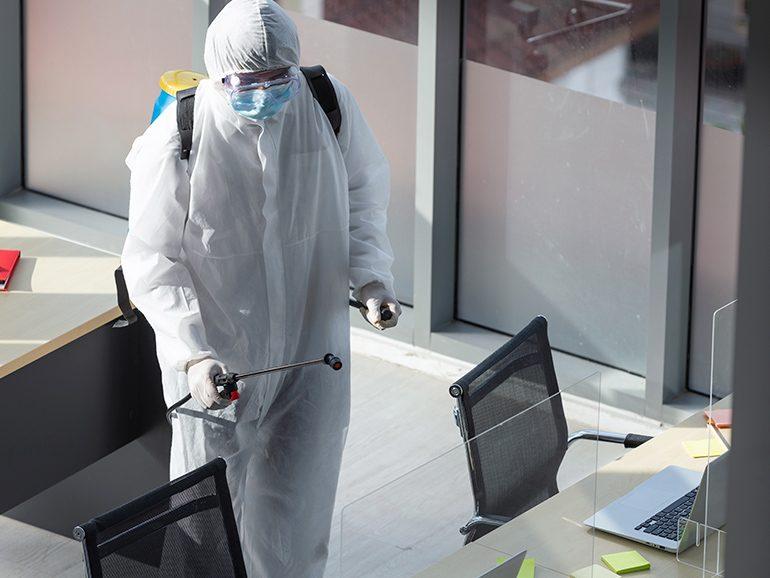 Limpieza y desinfección de oficinas con garantía anti-COVID-19