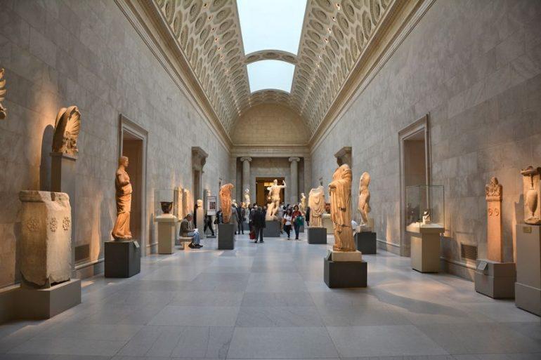 limpieza de un museo